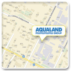 Карта проезда Aqualand Group офис Астана